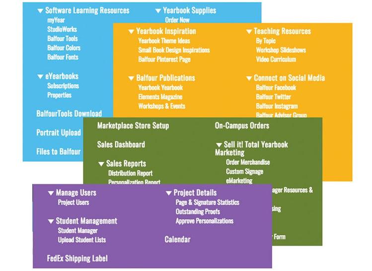 StudioBalfour_dashboard menus