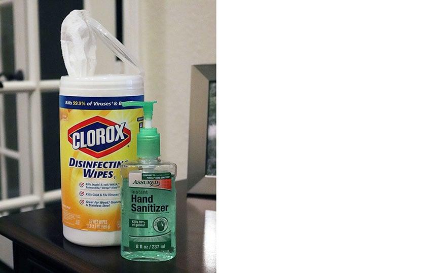Coronavirus_disinfecting wipes hand sanitizer DB