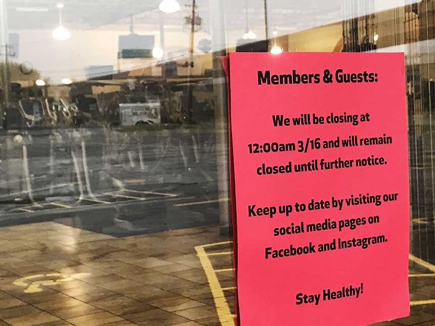 Coronavirus_gym closings