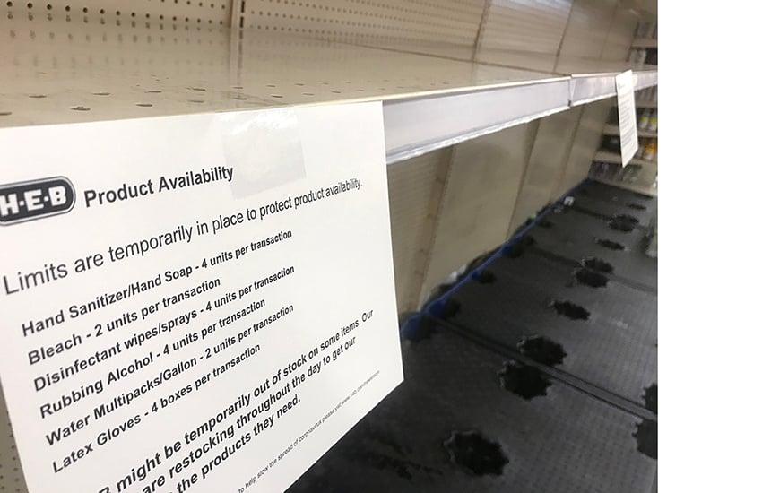 Post_Coronavirus_HEB empty shelves KL