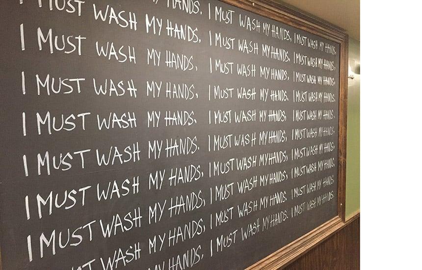 Post_Wash hands_blackboard_2290628