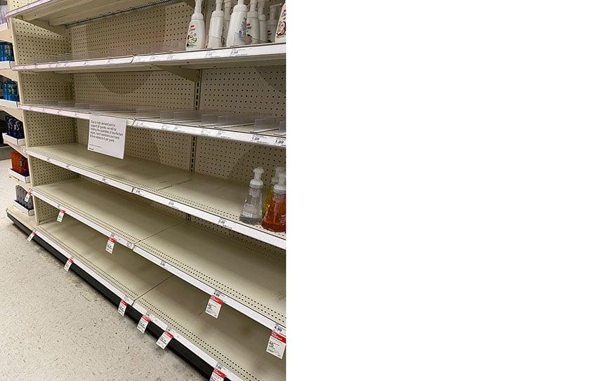Target_empty shelves California