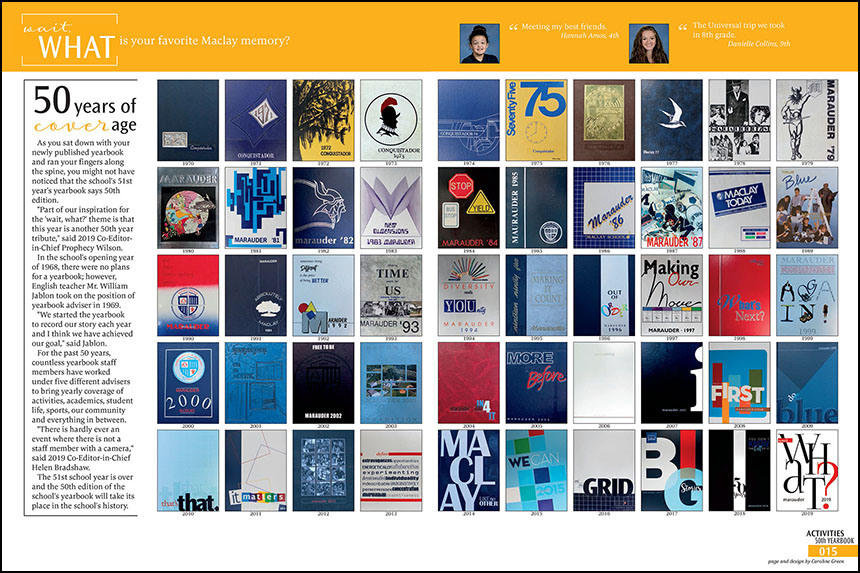 19_Maclay School_50th yearbooks