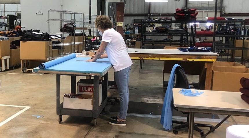 Waco sewing masks_cutting