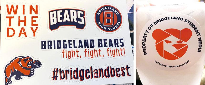Bridgeland stickers 860